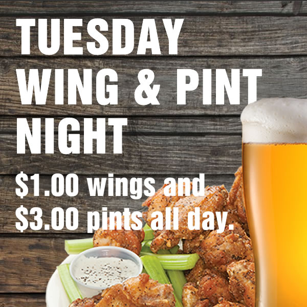 Shooters Tuesday Special - Wing & Pint Night