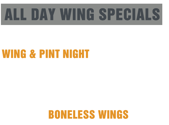 Shooters Wing Special